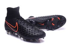 Nike Magista orden II FG Black Orange Top Ankle Men Soccer Boots