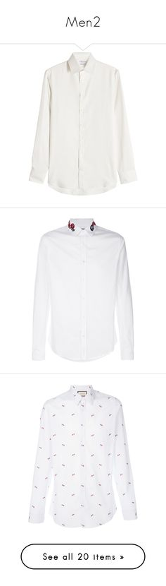 """Men2"" by cherry-panda on Polyvore featuring men's fashion, men's clothing, men's shirts, beige, mens holiday shirts, mens shiny shirt, mens shirts, alexander mcqueen mens shirt, mens tailored shirts и white"