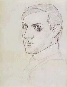 Pablo Picasso, self-portrait, 1917.