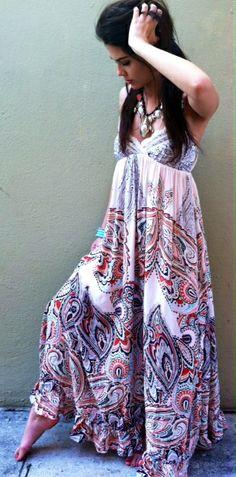 Bondi beach maxi dress
