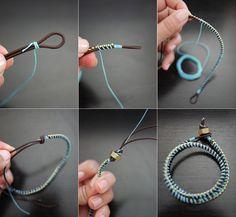 Miss Cosillass: DIY - Pulsera de cordón y brillantes