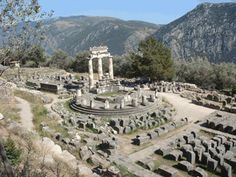 Delphi, Greece--Ever wish you could tell the future. The oracles spent time here in ancient days doing just that. We climbed to the very top of the hill where there's this football-like stadium used for games. Unbelievably awesome!