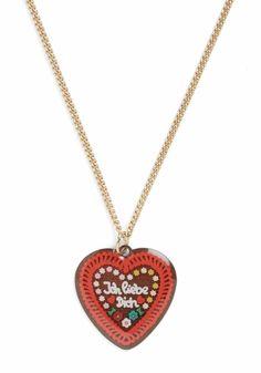 Oktoberfest | Ich Liebe Dich Heart Necklace