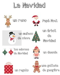 Vocabulario de Navidad // Spanish Christmas printables