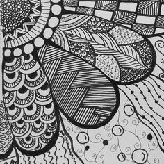 patterns zentangle doodle drawing zen simple drawings marker doodles pattern flowers trendy zentangles mandala painting instagram