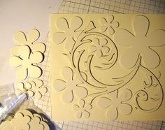 Create Texture Plates Tutorial from I Have Prettier Stuff Card Making Tutorials, Card Making Techniques, Cuadros Diy, Clay Texture, Embossing Techniques, Paper Crafts, Diy Crafts, Crafty Craft, Crafting