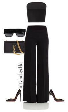 Untitled #75 by chloe-jp on Polyvore featuring polyvore, fashion, style, Maticevski, P.A.R.O.S.H., Christian Louboutin, Yves Saint Laurent, CÉLINE and clothing