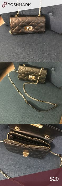 Black Cross Body Black and gold cross body bag Bags Crossbody Bags