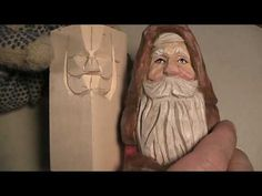 Wood Carving the Santa Face part1 - YouTube