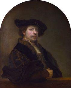 """ Self-portrait at the Age of 34, 1640, Rembrandt Van Rijn Size: 76x92 cm Medium: oil"""
