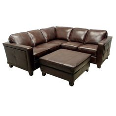 @Overstock - The Emerson brown italian leather sectional sofa and ottoman are handcrafted using time-honored Old World techniques. This furniture features premium Italian leather and a durable hardwood frame.http://www.overstock.com/Home-Garden/Emerson-Brown-Italian-Leather-Sectional-Sofa-and-Ottoman/6731173/product.html?CID=214117 $3,594.99