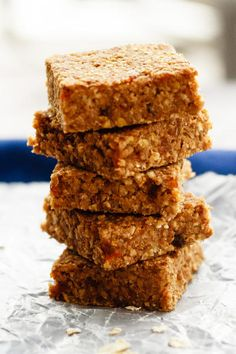 Apple Cinnamon Energy Bars is a to go snack you can be happy about. Delicious and nutritious.