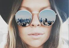 FREE Retro round sunglasses Blake Lively, Round Sunglasses, Mirrored Sunglasses, Vintage Designs, Gifts For Her, Retro, Free, Fashion, Bangs Hairstyle