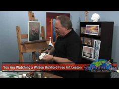 Painting a realistic drop of dew can be a very challenging task. In this free art lesson, professional artist and art instructor Wilson Bickford shows you ho...
