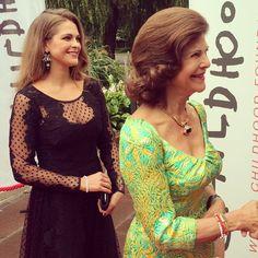 sarahbellar:  Princess Madeleine and Queen Silvia, September 8, 2014
