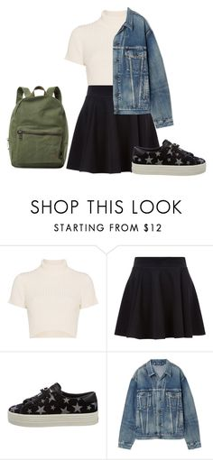 """""""Untitled #108"""" by jazz666 on Polyvore featuring Staud, Yves Saint Laurent, Balenciaga and Herschel Supply Co."""