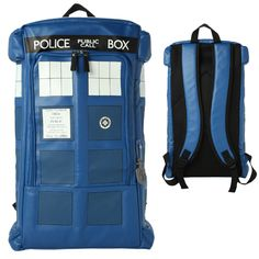 a TARDIS Backpack.... I NEED THIS IN MY LIFE!!!