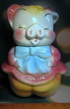 Pig Cookie Jar American Bisque USA