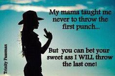 "Love it!  I've always told the kids everything after the first punch is ""self-defense""."