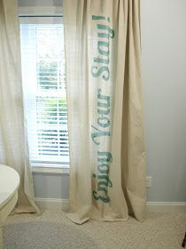 Would make a cute sign in the guest room. curtain love!