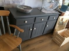 Sideboard refinished in Autentico Vintage Chalk Paint.