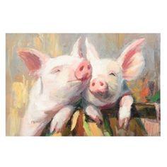 Pig Friendship Canvas Art Print | Kirkland's