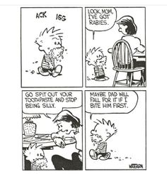 Calvin And Hobbes Comics, Snoopy Comics, Bd Comics, Funny Comics, Funny Puns, Funny Quotes, Sarcasm Quotes, Qoutes, Daily Funny