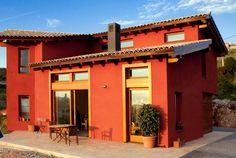 Ideas de #Exterior, Jardin, Porche, estilo #Tradicional color  #Rojo,  #Ocre, diseñado por MR-ARQUITECTURA TECNICA  #CajonDeIdeas