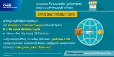 W ciągu najbliższych dwóch lat nad sklepem internetowym pracować będzie 6 z 10 sieci detalicznych w Polsce - dwa razy więcej niż dotychczas. #KPMG #sklepspożywczy #sprzedażinternetowa #sklepinternetowy