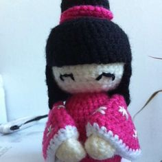 Free Kokeshi Doll Amigurumi Crochet Pattern