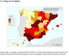 Mapa Natalidad España 2009