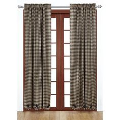 """Add our Navy Star Scalloped Lined Panel Curtains 84"""" with it's sweet star border detail to any room in your home. These curtains will allow you to have privacy if you wish. https://www.primitivestarquiltshop.com/products/navy-star-scalloped-lined-panel-curtains-84 #countrystylecurtains"""