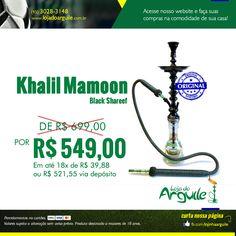 Khalil Mamoon Black Shareef DE R$ 699,00 / POR R$ 549,00 Em até 18x de R$ 39,88 ou R$ 521,55 via depósito  Compre Online: http://www.lojadoarguile.com.br/khalil-mamoon-black-shareef