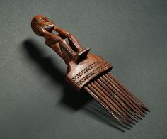Figurative Massim comb from New Guinea