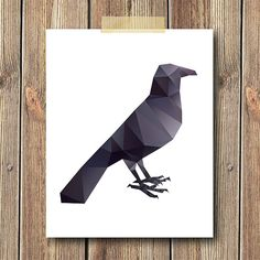 Geometric Raven Art Print 8x10 Print Wall art Home by CheekySheep, $15.00