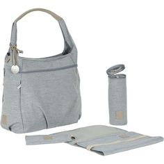 Lässig Wickeltasche Greenlabel, Hobo Bag, grey grau