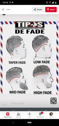 Types Of Fade Haircut, Fade Haircut Styles, Hair And Beard Styles, Cool Short Hairstyles, Black Men Hairstyles, Haircuts For Men, Barber Man, Hair Barber, Hair Designs For Men