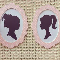 Silhouette frames for girls room decor