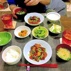 ttt_etsuko休日締めくくりのおかずは鶏の甘酢あん。明日からまた仕事頑張りましょう。 *  #夜ご飯#夜ごはん#夕飯#夕食#晩ごはん#晩ご飯#ふたりごはん #うちごはん #おうちごはん #dinner #甘酢あんかけ