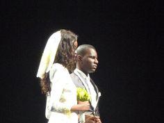 Angola Fashion week. Maria Borges as bride..