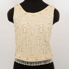 Vintage Beaded Sequin Top S now featured on Fab.