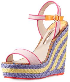 Sophia Webster Lucita Canvas Espadrille Wedge Sandal, Pastel Pink https://api.shopstyle.com/action/apiVisitRetailer?id=602454807&pid=uid2500-37484350-28