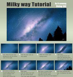 Tutorial : Milky way by R-nowong.deviantart.com on @DeviantArt