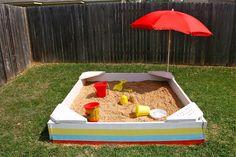how to make a Backyard Sandbox TUTORIAL | MADE