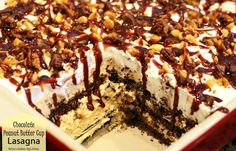 Chocolate Peanut Butter Cup Lasagna - melissassouthernstylekitchen.com