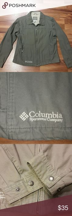 Columbia spring/fall coat Very nice and in great shape Columbia coat. Kind of an olive green color. Columbia Jackets & Coats
