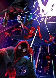 """My name is Miles Morales. I'm the one and only Spider-man.at least that's what I thought"" - Miles Morales, Into the Spider-verse trailer 2 Anyone el. Into the Spider-Verse Spiderman Kunst, Spiderman Spider, Amazing Spiderman, Spiderman Gratis, Spider Man Comic, Noir Spiderman, Spider Gwen, Marvel Comics, Marvel Heroes"