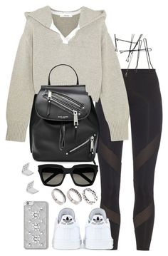 """""""Untitled #3372"""" by theeuropeancloset on Polyvore featuring adidas, Adeam, Marc Jacobs, MICHAEL Michael Kors, Yves Saint Laurent, FOSSIL and ASOS"""