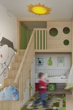 Um revestimento todo especial para a parte interna do beliche Feng Shui, Kids, Baby, Home, Bunk Bed Rooms, Bunk Bed Ladder, Room Inspiration, Infant Room, Creativity