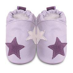 Chaussons bébé étoile rose et lilas au meilleur prix chez allobébé